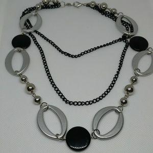 Vintage modernist triple strand necklace
